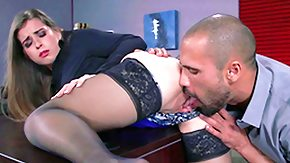 Black Granny HD Sex Tube Office honey Bunny Freedom among black nylons hosiery expands her
