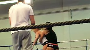 Lucy Belle, Babe, Blonde, Brunette, Cute, Fight