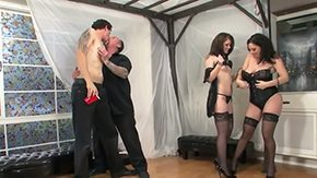 Angel Cakes, Ball Licking, Bisexual, Blowjob, Choking, Corset