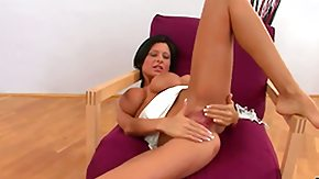 Free Allison Star HD porn videos Stunning brunette Alison teases to boot fingers her wet pink