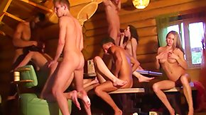Sauna, 18 19 Teens, Ball Licking, Barely Legal, Blowbang, Blowjob