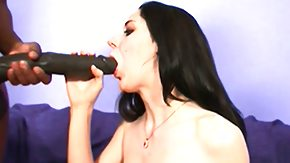 Free Black HD porn With dark hair coed coping with the biggest black cocks she's ever seen