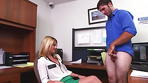 Handjobs, Babe, Blonde, CFNM, Handjob, Office