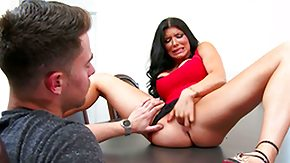 Romi Rain, American, Blowjob, Boots, Brunette, Desk