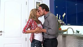 Ashley Abbott, Ball Licking, Blonde, Blowjob, Choking, Deepthroat
