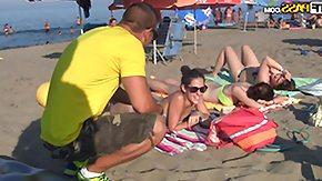 Lady, Babe, Beach, Brunette, Outdoor, Teen