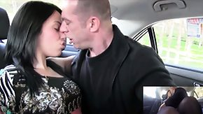 HD Backseat tube Young and horny brunette fucks a friend on the backseat of