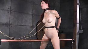 Pierced Clit, Bar, BDSM, Bondage, Bound, Brunette