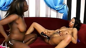 Free Ebony Double HD porn A pair of ebony babes are toying twats and then fuck with a double ding-dong