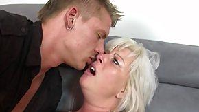 Stockings, Blonde, Fat Mature, Fingering, Fucking, Kissing
