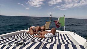 Yacht, Babe, Bitch, Blonde, Blowjob, Whore