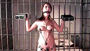 Jail, Babe, BDSM, Bound, Brunette, Hogtied