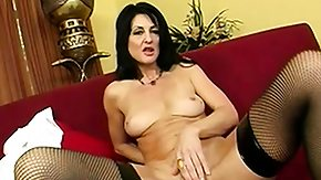 Cougar Stockings, Big Black Cock, Big Cock, Big Pussy, Blowjob, Brunette
