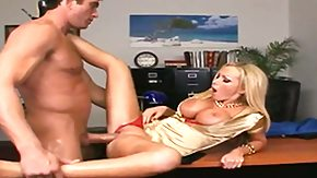 Blowbang, Beaver, Big Natural Tits, Big Tits, Blonde, Blowbang