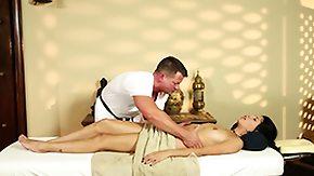 Latina Massage, Babe, Brunette, High Definition, Latina, Massage