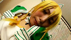 Cosplay, Asian, Asian Teen, Babe, Close Up, Costume