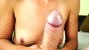 Son HD porn tube Developed cougar tugging stepsons cock pov style