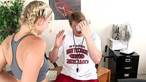 HD Natalie Norton tube Boxing practice tragedy turns into miracle blonde small wobblers teen sex undress white panties off lick desk sporty sucking off grey eyes pigtails