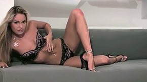 Veronika Fasterova HD porn tube Blonde dominant-bitch Veronika Fasterova starts posing in black lingerie black groovy heeled shoes before livecam She takes lingerie off continues posing