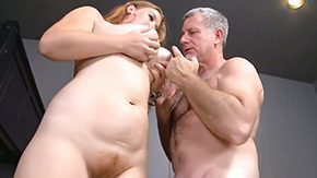 Dad and Girl, Aged, Ball Licking, BBW, Big Tits, Blowjob
