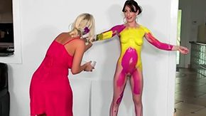 Body Painting, Beauty, Body Painting, Cute, High Definition, Lesbian