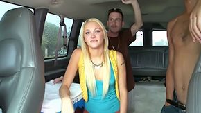 In Bus, 3some, 4some, Babe, Blonde, Blowjob