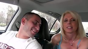 Milf Car, Aunt, Big Tits, Blonde, Blowjob, Boobs