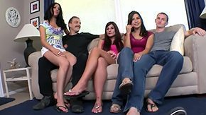 HD Dahlia Denyle Sex Tube Young excited brunettes Allie Jordan Dahlia Denyle Daisy Cruz with taut gazoos have fun in living room