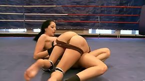 HD Larissa Dee tube Gorgeous dark brown boxing babes have sensational fight all along they play with sensitive parts Liz Larissa Dee