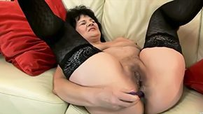 HD Helena May Sex Tube Sweet granny Helena May is getting her cunt anal tunnel pleasured with sex toys simultaneously