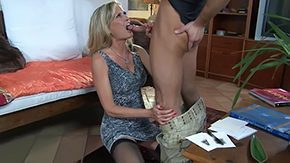 Sons Friend, Aunt, Bend Over, Best Friend, Blonde, Blowjob