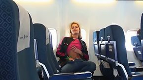 Plane, Babe, Blonde, Blowjob, Cute, Exhibitionists