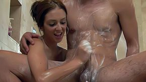 Stephanie Cane, Bath, Bathing, Bathroom, Brunette, Handjob