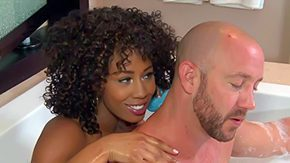 Misty Stone, Anorexic, Babe, Bath, Bathing, Bathroom