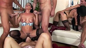 Rachel Evans, Banging, Blowjob, Costume, Group, High Definition