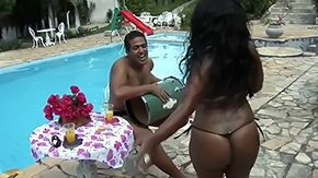 Free Aninha Melo HD porn videos Brown ebony neonate with chubby exasperation Aninha Melo yon leopard printed underclothing puts across her soaking up with adeptness relative to Silk-stocking Tigrao by pool alfresco yon sun