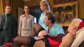 German, Aunt, Blonde, Boots, Clinic, Close Up