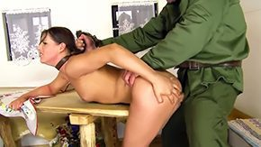 HD Bitch Sex Tube Brunette hair bitch Agata with small tits at intervals red boots only gets bound up by unmanageable soldier at intervals red uniform gets her moist fag smashed heavy at intervals