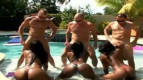 HD Katrina Devin tube Josh Katrina Devin Kiki Hawian Princess Rob Sergio are having blazon fun in swimming pool 3 dark-complexioned chicks stand on all fours start sucking white