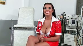Free Jasmyne Black HD porn Brunette nurse Jasmyne Black with stout jaw dropping knockers smile enclosed by red uniform gets filmed enclosed by close up at rencounter at