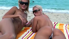 Sandy Beach, Beach, Big Ass, Big Tits, Blonde, Boobs