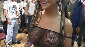 Busty in Bukkake 20yo 30yo massive boobs cumshot facial fmmm gangbang group nylons shower white