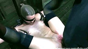 Chastity, BDSM, Blonde, Blowjob, Bondage, Bound