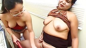 HD Asian lesbians do wild masturbation together