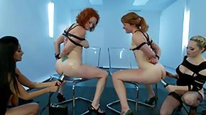 Lesbian Mature, 4some, BDSM, Blonde, Bound, Brunette