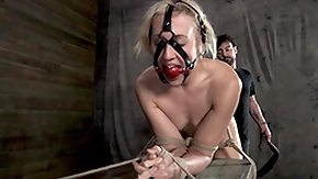 Punishment, BDSM, Blonde, Boobs, Bound, Choking