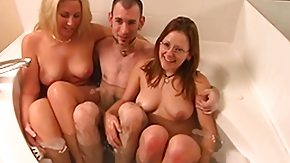 Swingers, 3some, Bath, Bathing, Bathroom, Blonde