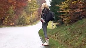 Free Hitch Hiker HD porn Young hitchhiker gets fucked in wood babe blonde european from behind smacking beanpole diaper lover screwing diaper lover car clothed jeans location naive next door reality