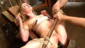 Boots Girl, Adorable, BDSM, Blonde, Bondage, Bound
