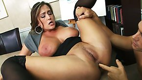 Pantyhose Fingering, Babe, Big Tits, Boobs, Brunette, Fingering